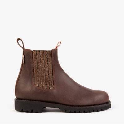 Penelope Chilvers Oscar Chelsea Boots in Bitter Chocolate & Tea Rose